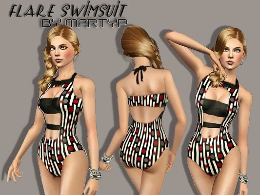 Sims 3 outfit, clothing, fashion, swim, swimsuit
