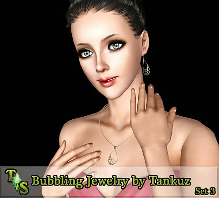 Sims 3 earrings, necklace, accessories, jewelry, female, sims3