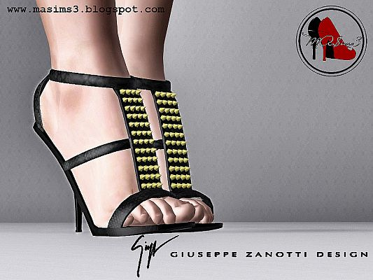 Sims 3 sandals, shoes, high heels, female, sims3
