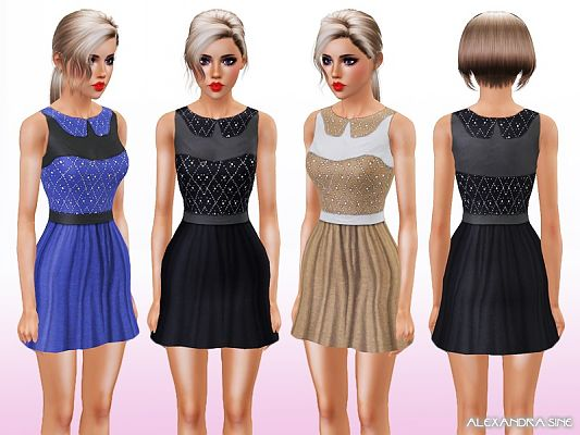 Sims 3 dress, outfit, clothing, shirt, fashion, female