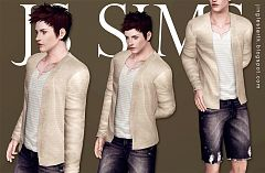 Sims 3 top, clothes, fashion, males, shirt, short