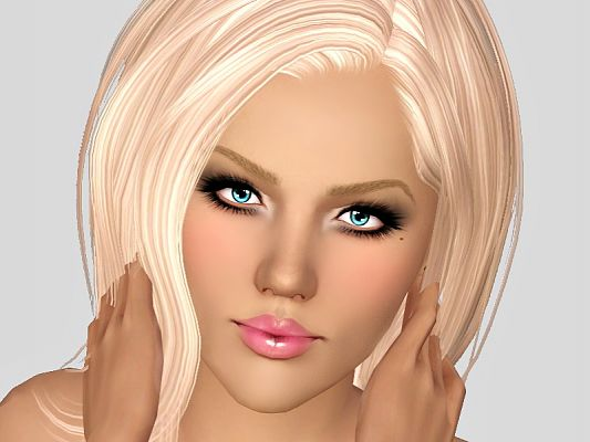 Sims 3 moles, makeup, beauty marks