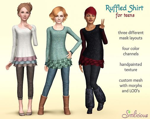 Sims 3 top, clothes, fashion, shirt