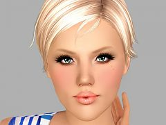 Sims 3 beauty spots, costume makeup, female, sims3