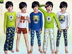 Sims 3 sleepwear, fashion, child, sims3