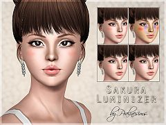 Sims 3 blush, makeup, costume makeup, female