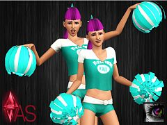 Sims 3 accessory, pompoms