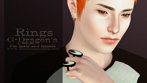 Sims 3 rings, accessories, jewelry, male, sims3