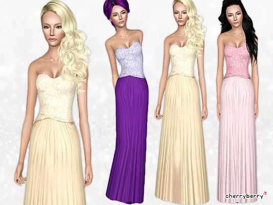 Sims 3 dress, outfit, clothing, fashion, female, gown, sims3