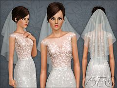 Sims 3 accessory, jewelry, veil
