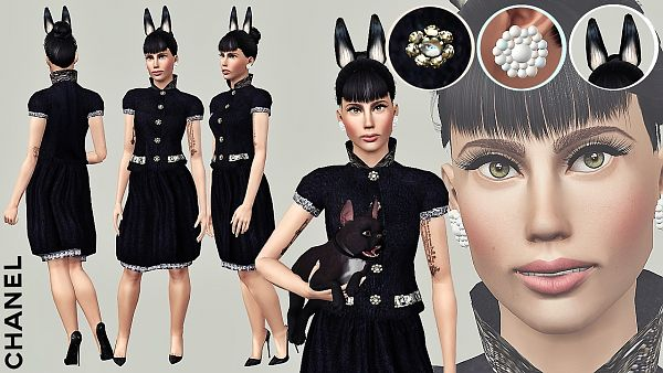 Sims 3 outfit, fashion, clothing, female, dress, accessories, sims3