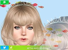 Sims 3 hairband, headwear, jewelry, accessories