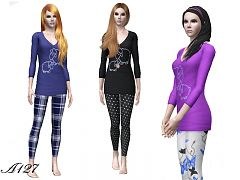 Sims 3 sleepwear, pajamas, outfit, clothing