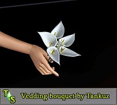 Sims 3 flowers, bouquet, accessory