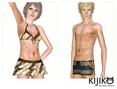 Sims 3 swim, swimwear, set, clothing