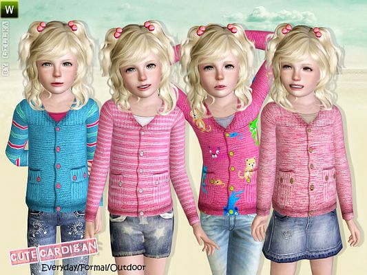 Sims 3 sweater, top, clothing, cardigan