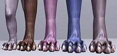 Sims 3 werewolf feet, shoes
