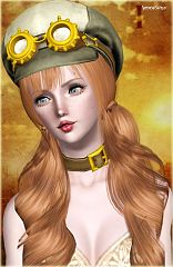 Sims 3 hat, accessory, steampunk
