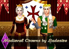 Sims 3 accessories, crowns, medival, female, sims3