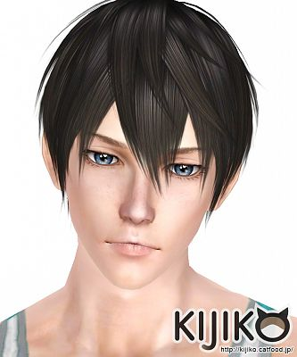Sims 3 hair, hairstyle, male, swimwear