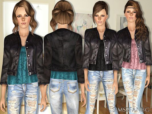 Sims 3 jacket, clothing