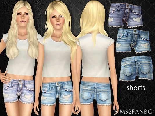 Sims 3 female, outfit, clothing, shorts, sims3