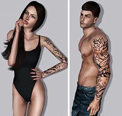 Sims 3 tattoo, tattoos, accessory