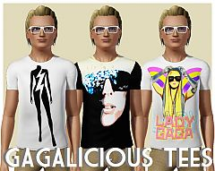 Sims 3 clothing, fashion, shirts, male, gaga, lady gaga,