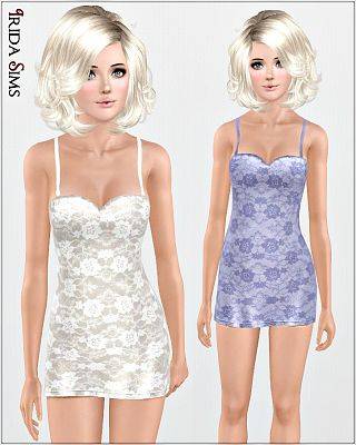 Sims 3 sleepwear, gown