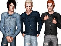 Sims 3 outfit, clothing, male, jacket, top