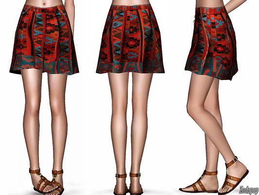 Sims 3 outfit, fashion, clothing, female, skirt