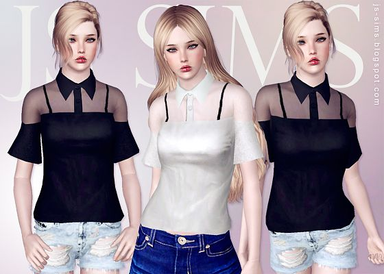 Sims 3 outfit, fashion, clothing, female, blouse