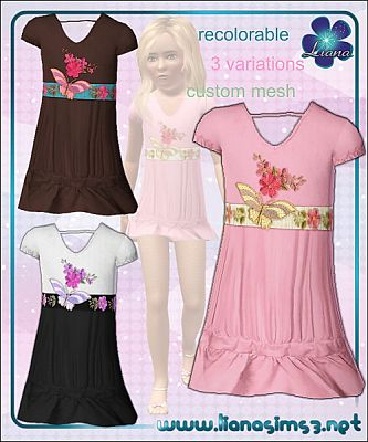 Sims 3 cloth, clothes, fashion, outfits, dress, girls, child, female