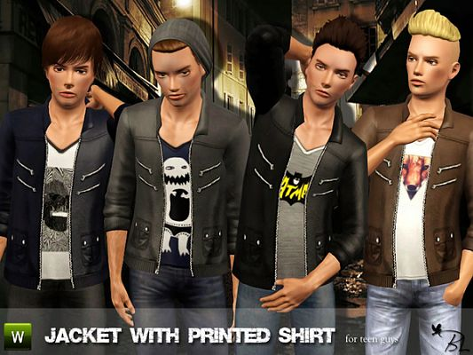 Sims 3 jacket, clothing, top