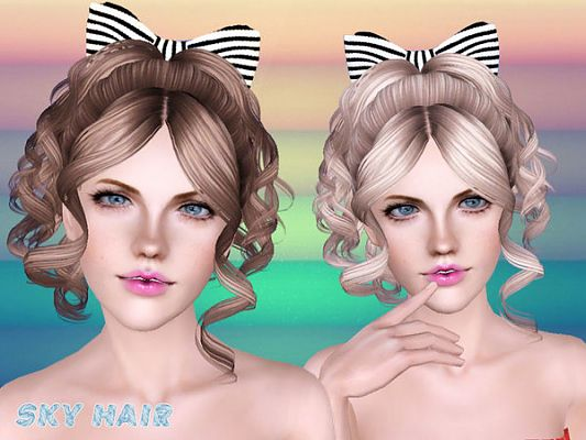Sims 3 hair, hairstyle, female