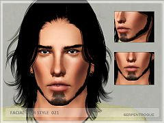 Sims 3 facial hair, male, genetics