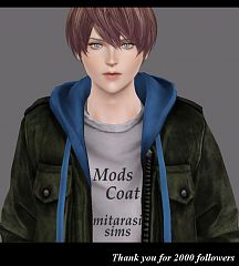 Sims 3 cloth, clothing, top, coat