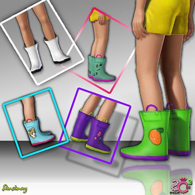 Sims 3 shoes, boots, children, kids, girl, boy
