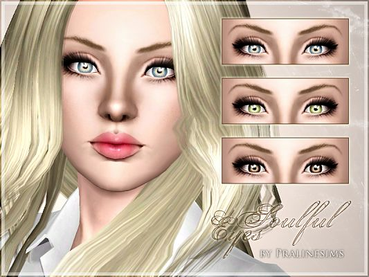 Sims 3 eyes, contact lenses, costume makeup, female, sims3