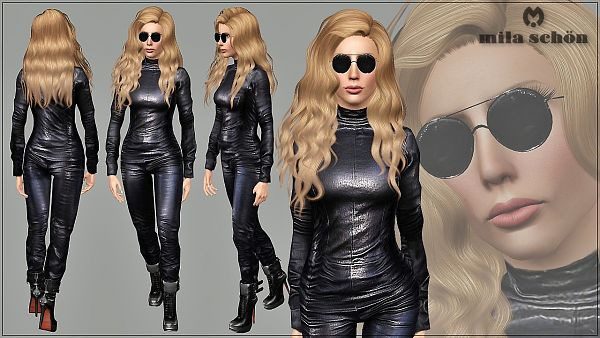 Sims 3 clothing, clothes, leather