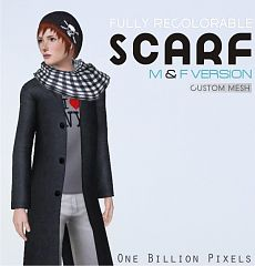Sims 3 scarf, accessories, females, males