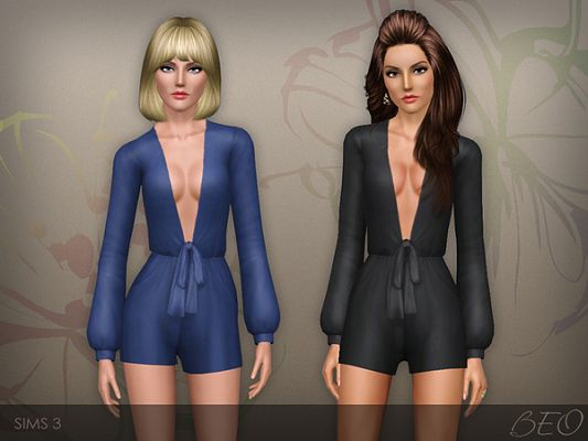 Sims 3 jumpsuit, outfit, overalls