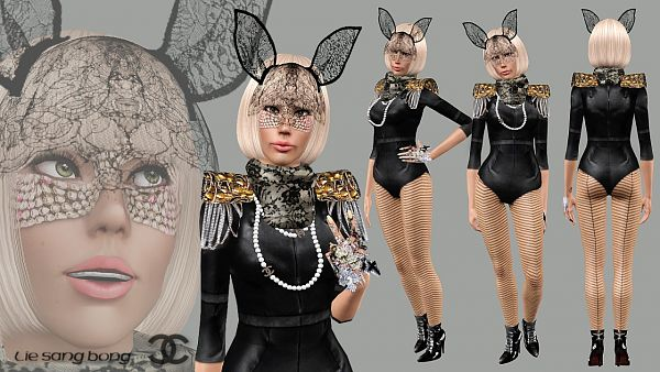 Sims 3 outfit, fashion, clothing, female, bodysuit
