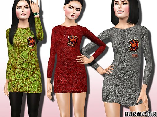 Sims 3 dress, outfit, clothing, fashion, female, sims3