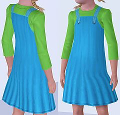 Sims 3 clothing, fashion, dress, overall, child, girl