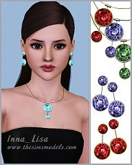 Sims 3 necklace, earrings