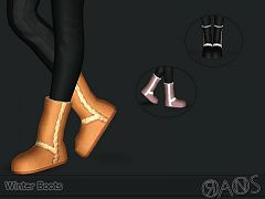 Sims 3 boots, shoes, flats, female, sims3
