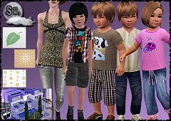 Sims 3 clothes, pattern, fashion, children, toddler