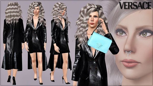 Sims 3 outfit, leather
