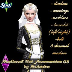 Sims 3 necklace, jewelry, earrings, belt